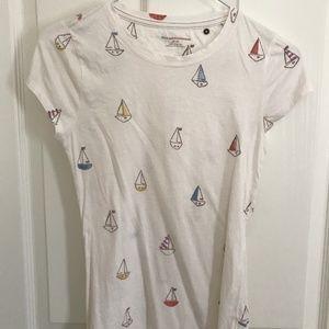 Anthropologie Sailboat Print Shirt XS